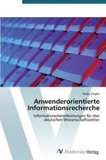 Anwenderorientierte Informationsrecherche