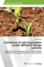 Variations of soil respiration under different tillage systems