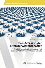 Open Access in den Literaturwissenschaften
