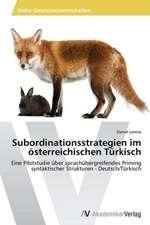 Subordinationsstrategien im österreichischen Türkisch