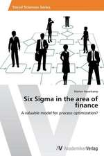 Six Sigma in the area of finance