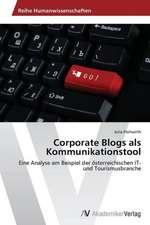 Corporate Blogs als Kommunikationstool
