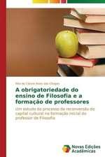 A Obrigatoriedade Do Ensino de Filosofia E a Formacao de Professores:  Consequencias Da Escolha No Fluxo de Caixa
