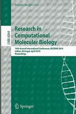 Research in Computational Molecular Biology: 14th Annual International Conference, RECOMB 2010, Lisbon, Portugal, April 25-28, 2010, Proceedings