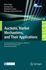 Auctions, Market Mechanisms and Their Applications: Second International ICST Conference, AMMA 2011, New York, USA, August 22-23, 2011, Revised Selected Papers
