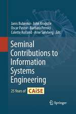 Seminal Contributions to Information Systems Engineering: 25 Years of CAiSE