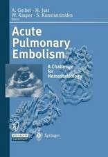 Acute Pulmonary Embolism: A Challenge for Hemostasiology