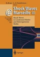 Shock Waves @ Marseille III: Shock Waves in Condensed Matter and Heterogeneous Media