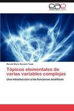Topicos Elementales de Varias Variables Complejas