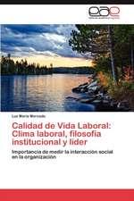 Calidad de Vida Laboral: Clima laboral, filosofía institucional y líder