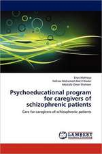 Psychoeducational program for caregivers of schizophrenic patients