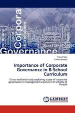 Importance of Corporate Governance in B-School Curriculum