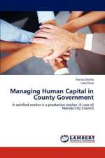 Managing Human Capital in County Government
