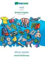 BABADADA, Marathi (in devanagari script) - British English, visual dictionary (in devanagari script) - visual dictionary