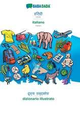 BABADADA, Hindi (in devanagari script) - italiano, visual dictionary (in devanagari script) - dizionario illustrato