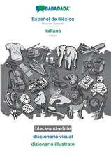 BABADADA black-and-white, Español de México - italiano, diccionario visual - dizionario illustrato