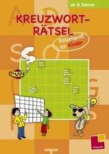 Kreuzworträtsel: Rätselspaß für Kinder (orange)
