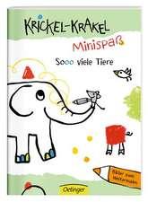 Krickel-Krakel-Minispaß: So viele Tiere! Bilder zum Weitermalen