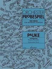Orchester-Probespiel Pauke / Schlagzeug