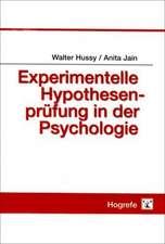 Experimentelle Hypothesenprüfung in der Psychologie