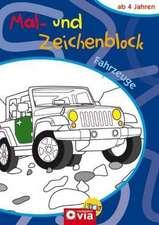 Fahrzeuge Mal- und Zeichenblock