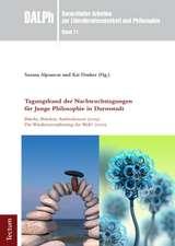 Tagungsband der Nachwuchstagungen für Junge Philosophie in Darmstadt