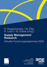 Supply Management Research: Aktuelle Forschungsergebnisse 2009