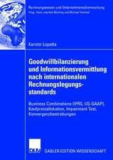 Goodwillbilanzierung und Informationsvermittlung nach internationalen Rechnungslegungsstandards: Business Combinations (IFRS, US-GAAP), Kaufpreisallokation, Impairment Test, Konvergenzbestrebungen