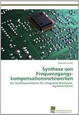 Synthese Von Frequenzgangskompensationsnetzwerken:  Measurement and Source Allocation