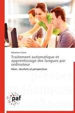 Traitement automatique et apprentissage des langues par ordinateur