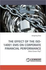 Effect of the ISO-14001 EMS on Corporate Financial Performance
