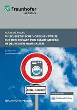 Milieuspezifische Vorgehensweise für den Einsatz von Smart Metern in deutschen Haushalten