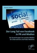 Der Long Tail Von Facebook in PR Und Medien:  Die Auswirkungen Von Sozialen Medien Fur Unternehmen Und Public Relations