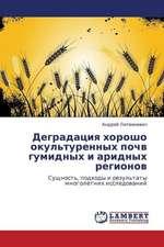 Degradatsiya khorosho okul'turennykh pochv gumidnykh i aridnykh regionov