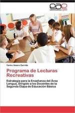 Programa de Lecturas Recreativas