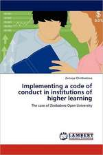 Implementing a code of conduct in institutions of higher learning