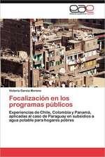Focalizacion En Los Programas Publicos:  Virtudes, Falencias y Nuevos Desafios