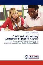 Status of accounting curriculum implementation