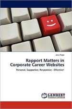 Rapport Matters in Corporate Career Websites