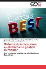 Sistema de Indicadores Cualitativos de Gestion Curricular:  Desusos y Costumbres II