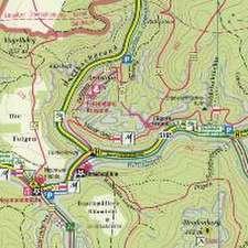 Hintere Sächsische Schweiz 02. 1 : 15 000