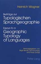 Beitraege Zur Typologischen Sprachgeographie - Essays to a Geographic Typology of Languages