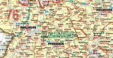 Bacher. Postleitzahlenkarte Deutschland 1 : 700 000. Posterkarte beschichtet