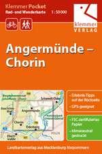 Klemmer Pocket Rad- und Wanderkarte Angermünde - Chorin 1 : 50 000