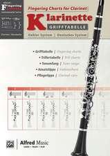 Grifftabelle Klarinette Deutsches System   Fingering Charts Bb-Clarinet Oehler System