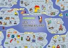 mindmemo Lernposter - Les premiers pas - Französisch für Einsteiger - Vokabeln lernen mit Bildern - Zusammenfassung