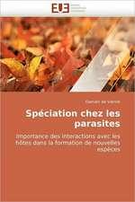 Spéciation chez les parasites