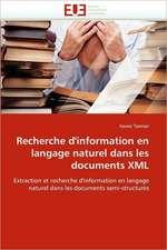 Recherche D'Information En Langage Naturel Dans Les Documents XML:  Biodiversite Et Biovalorisation