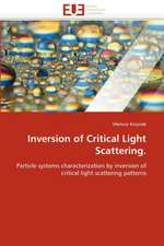 Inversion of Critical Light Scattering.