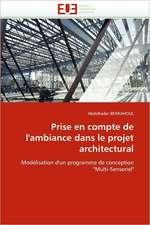 Prise en compte de l'ambiance dans le projet architectural
